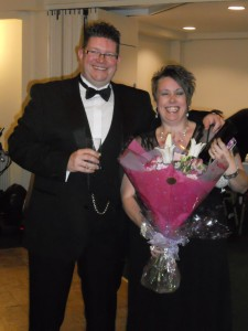 The Worshipful Master, W.Bro. Andrew Skelton and Mrs Liz Skelton