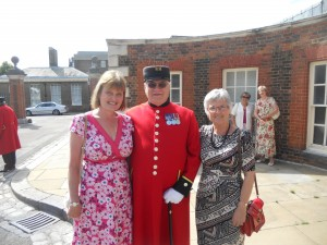 W.Bro Michael Allen with Hilary Robson and Dorothy Beedie