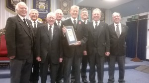 Innswoth Lodge Visitors with the WM of Thornton Cleveleys Lodge