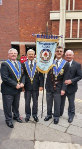 Innsworth Lodge on Parade for Gloucester Day 2015
