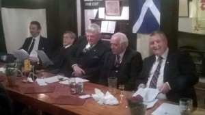 W Bro Steve Braden, W Bro John Cane, W Bro Fred Wood, W Bro Chris Paisley & W Bro Mark Tomlinson