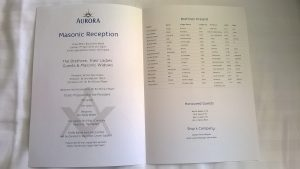 Print of the program showing those attending