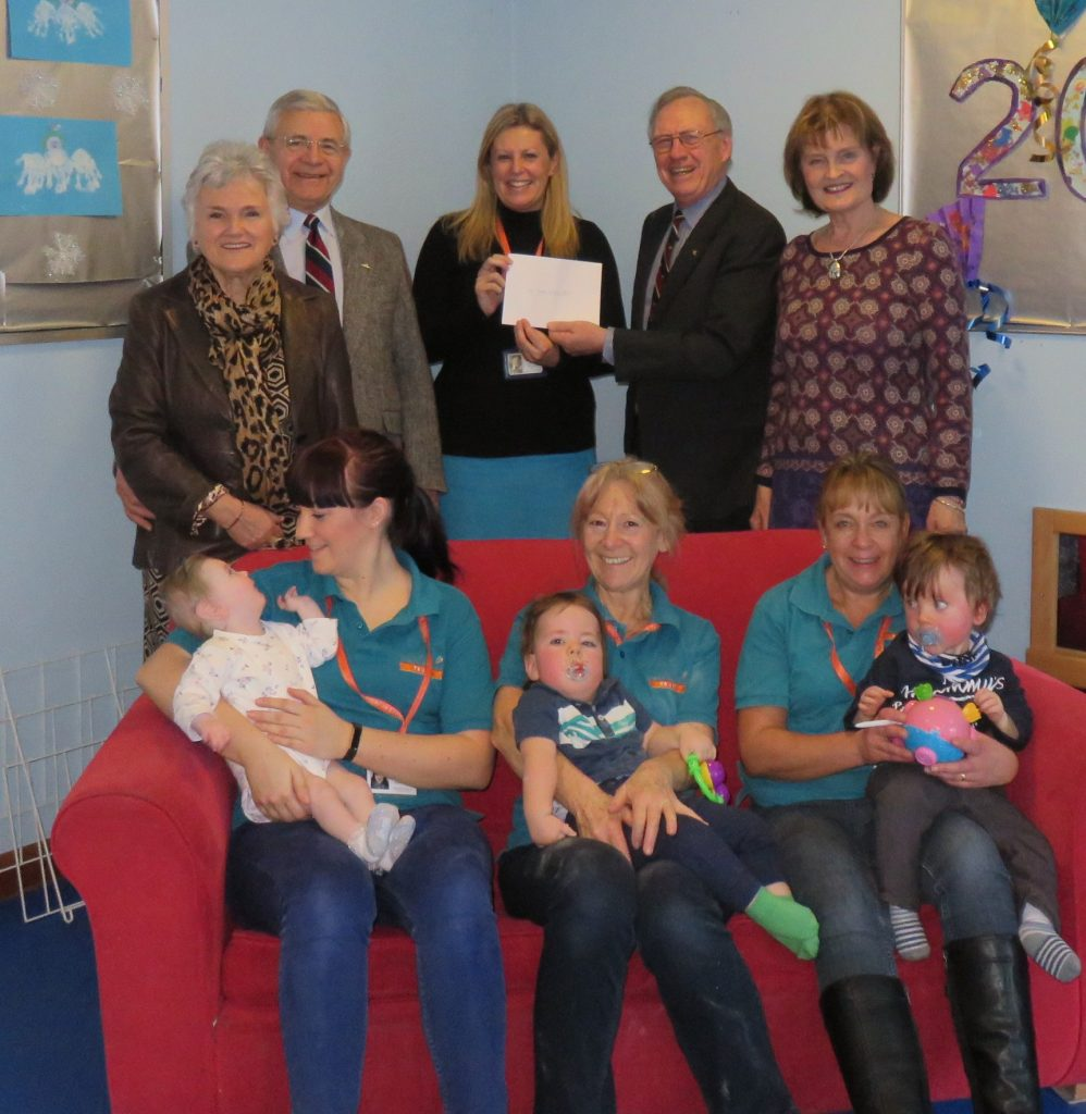 MATCH-FUNDING CHEQUE PRESENTED BY INNSWORTH LODGE TO JAMES HOPKINS TRUST – TO MARK UGLE TERCENTENARY