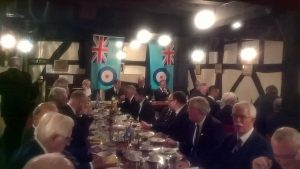 RAF ENSIGNS ON DISPLAY AT INNSWORTH LODGE INSTALLATION – 23 SEPTEMBER 2017